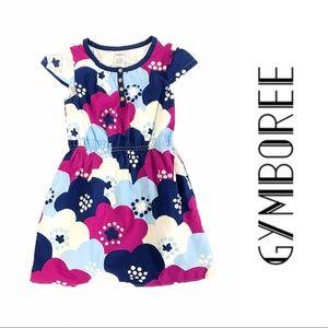 Gymboree Cotton Short Sleeve Dress Floral W Lining